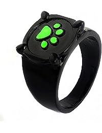 Miraculous Ladybug Rings,Earrings,Necklace,Cufflink Cat Noir Cosplay Jewelry Blackgreen Ring