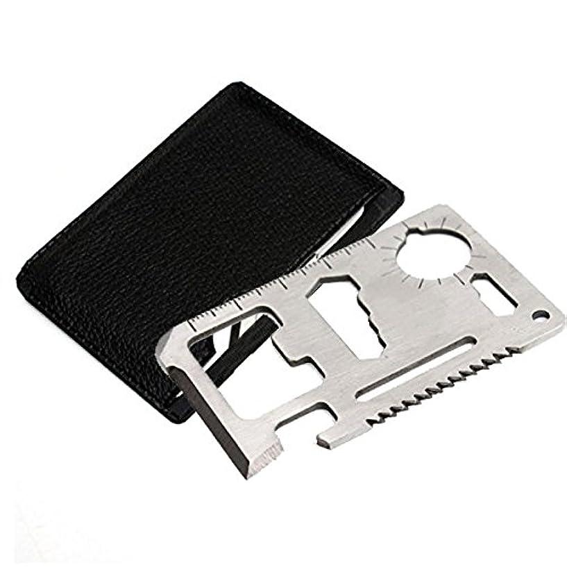 人質観察する似ている[Chinryou] 多機能 ツール 万能ツール カード型 工具 薄型 軽量 カードタイプ キャンプ 釣り 登山 防災など 大変便利