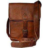 Madosh Real Leather Brown Sling Casual Men's Shoulder Bag Cross-Body Satchel Vintage Small Bag