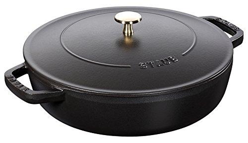 ストウブ 両手 鍋 ブレイザー 24cm ブラック 40511-473