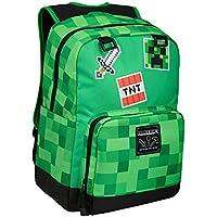 "JINX Minecraft Survival Badges Kids School Backpack, Green, 17"""