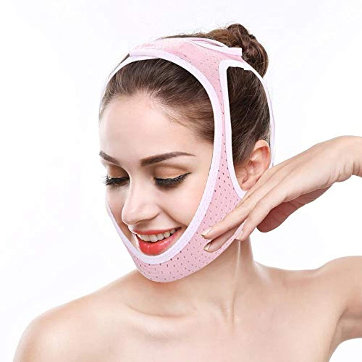 略す疑い者致死二重あごを減らすための減量用フェイスマスク、減量用フェイスマスク(M)