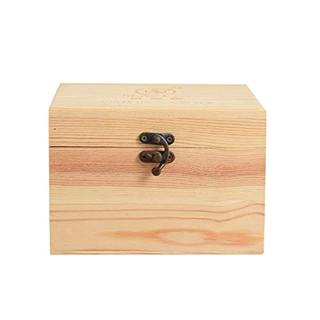 公平オーディションボックスプレゼンテーションのために9ボトル木製エッセンシャルオイルストレージボックスパーフェクトエッセンシャルオイルケースは被害太陽光からあなたの油を保護します アロマセラピー製品 (色 : Natural, サイズ : 16.5X11.5X15CM)