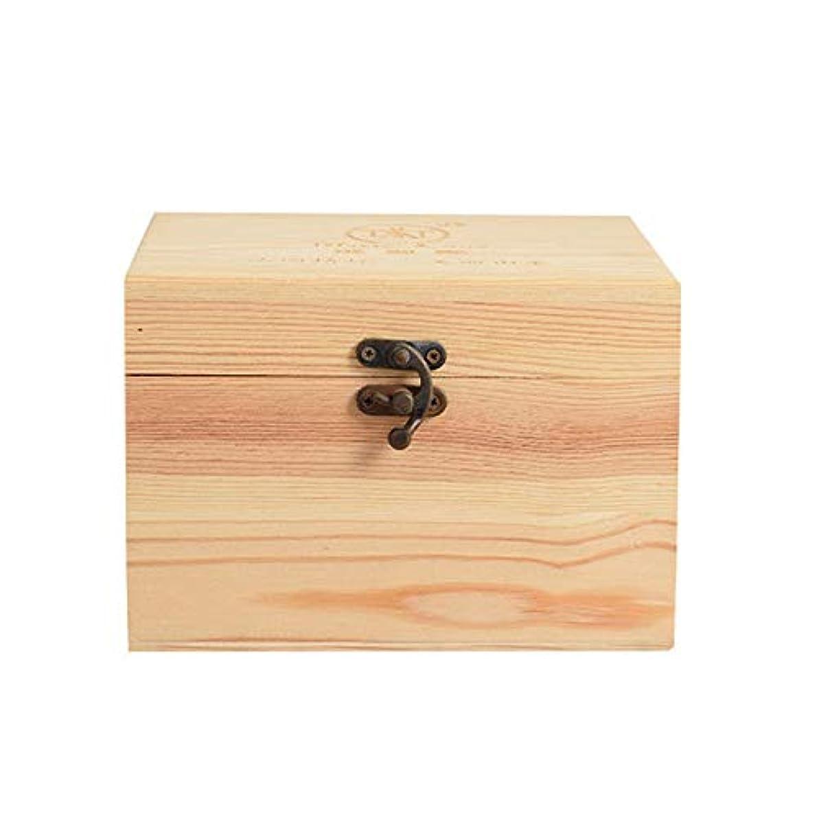銀行言い直す胴体プレゼンテーションのために9ボトル木製エッセンシャルオイルストレージボックスパーフェクトエッセンシャルオイルケースは被害太陽光からあなたの油を保護します アロマセラピー製品 (色 : Natural, サイズ : 16.5X11.5X15CM)