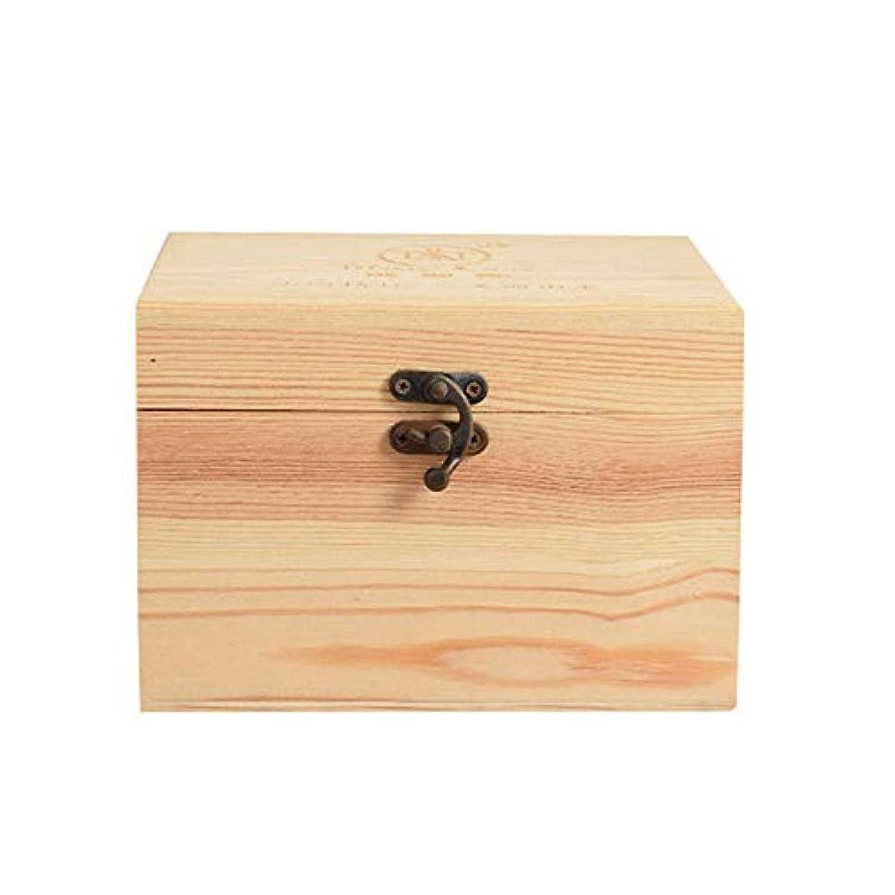 以下誘う近所の精油ケース プレゼンテーションのために9ボトル木製エッセンシャルオイルストレージボックスパーフェクトエッセンシャルオイルケースは被害太陽光からあなたの油を保護します 携帯便利 (色 : Natural, サイズ : 16.5X11.5X15CM)