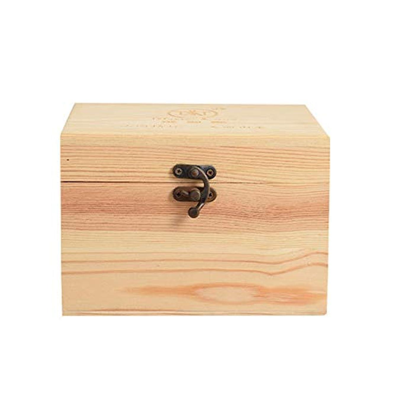 ドラマサンダー最適アロマセラピー収納ボックス あなたのオイル太陽の損傷を保護するために、エッセンシャルオイルの9種類の完璧なエッセンシャルオイルの収納ボックス木製プレゼンテーションケース エッセンシャルオイル収納ボックス (色 : Natural...