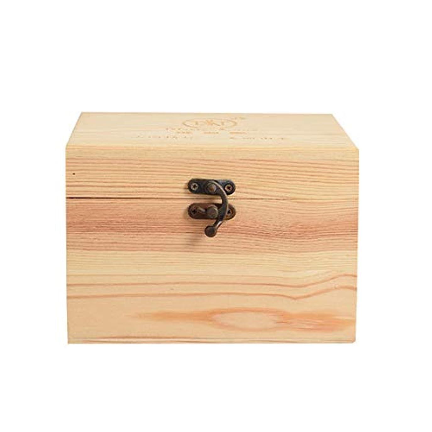 晩ごはんふさわしい引き渡すプレゼンテーションのために9ボトル木製エッセンシャルオイルストレージボックスパーフェクトエッセンシャルオイルケースは被害太陽光からあなたの油を保護します アロマセラピー製品 (色 : Natural, サイズ : 16.5X11.5X15CM)