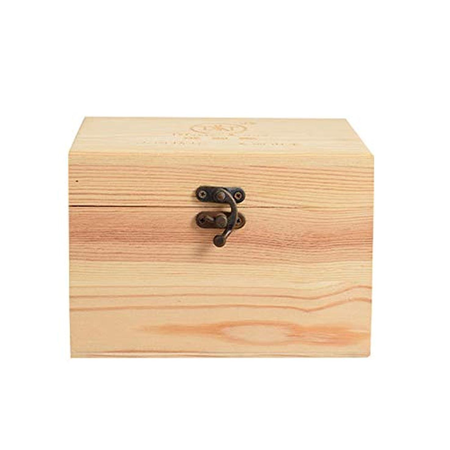 どうやってはねかける美的プレゼンテーションのために9ボトル木製エッセンシャルオイルストレージボックスパーフェクトエッセンシャルオイルケースは被害太陽光からあなたの油を保護します アロマセラピー製品 (色 : Natural, サイズ : 16.5X11.5X15CM)