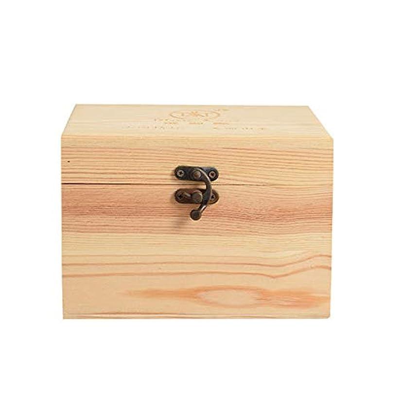 委員会軽蔑高潔なプレゼンテーションのために9ボトル木製エッセンシャルオイルストレージボックスパーフェクトエッセンシャルオイルケースは被害太陽光からあなたの油を保護します アロマセラピー製品 (色 : Natural, サイズ : 16.5X11.5X15CM)