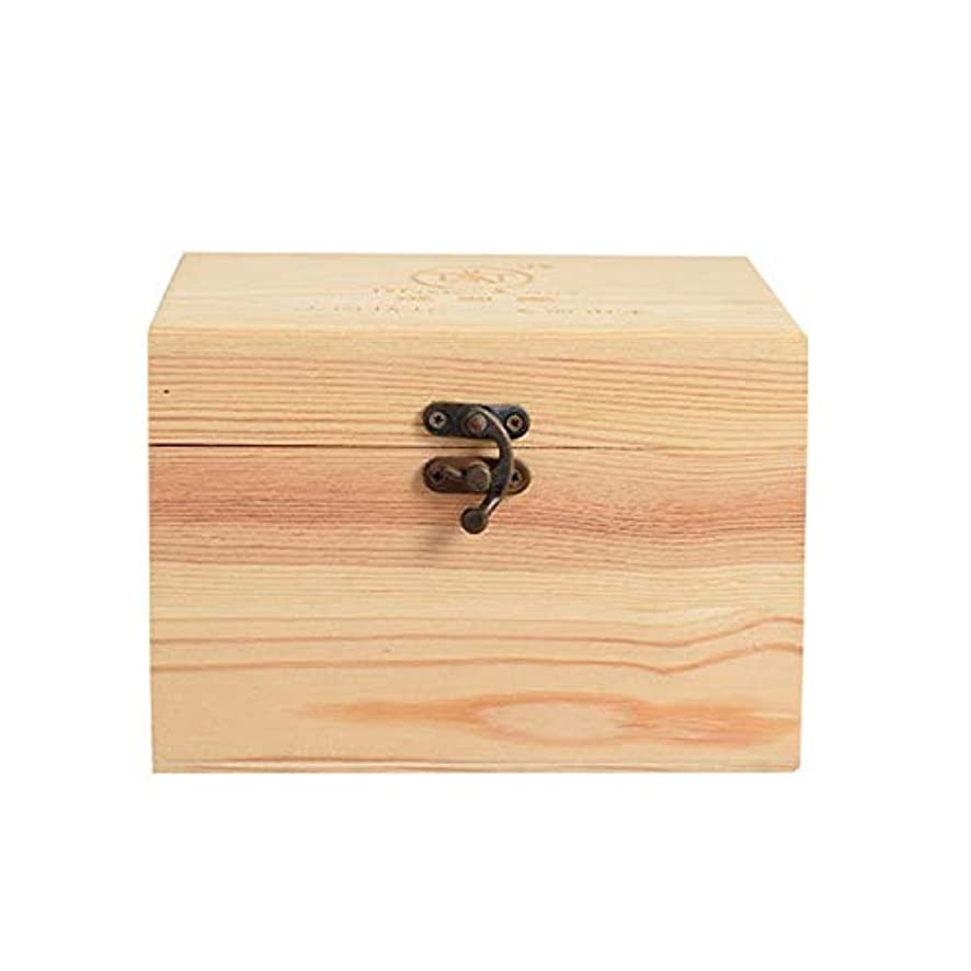 メディカルそうでなければウェイドプレゼンテーションのために9ボトル木製エッセンシャルオイルストレージボックスパーフェクトエッセンシャルオイルケースは被害太陽光からあなたの油を保護します アロマセラピー製品 (色 : Natural, サイズ : 16.5X11.5X15CM)