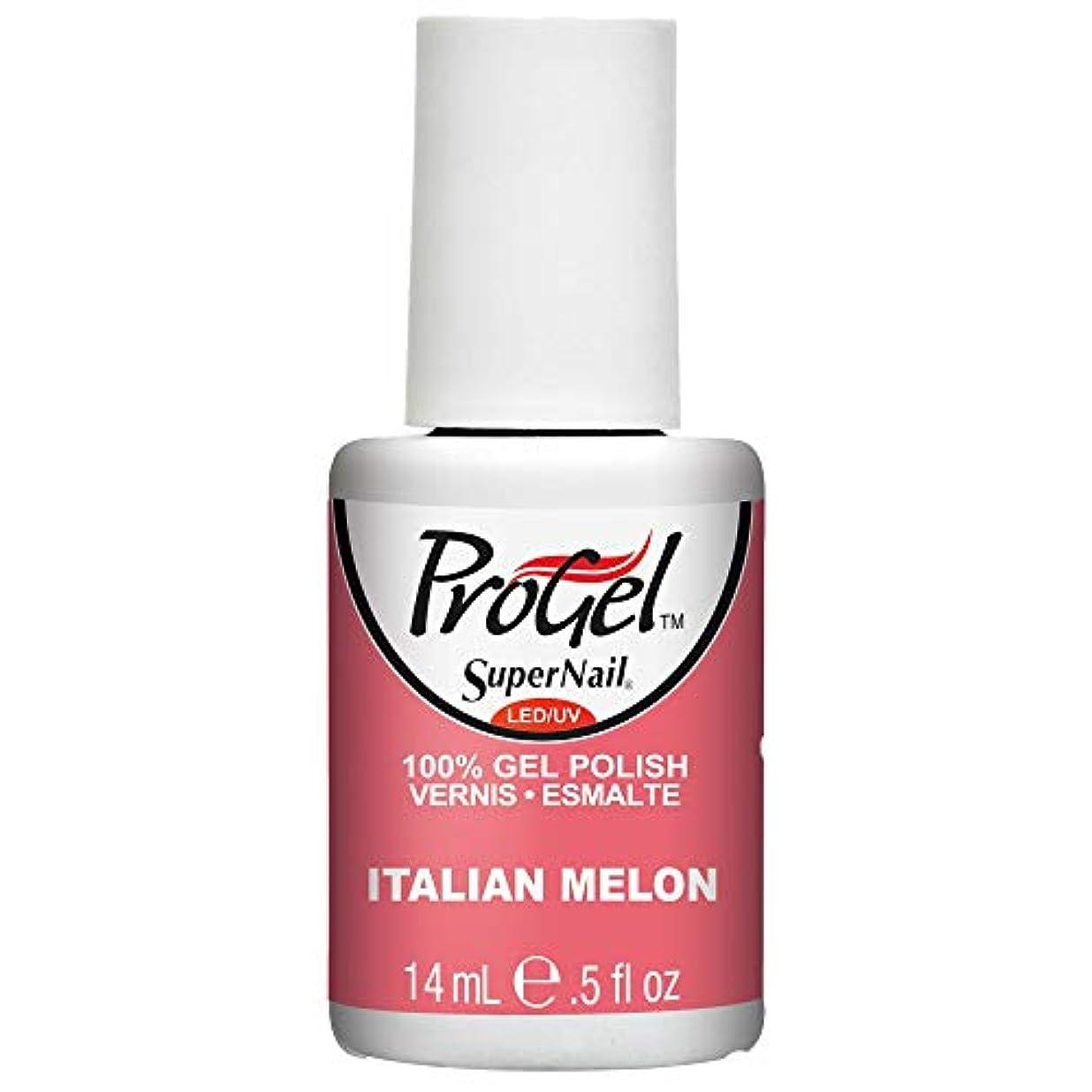 ぼろ休憩する保護SuperNail ProGel Gel Polish - Italian Melon - 0.5oz / 14ml
