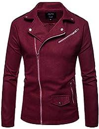 Keaac メンズカジュアルロングスリーブ斜めジッパードレスシャツトップスプルオーバー軽量ジャケット