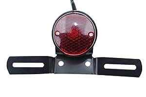 KUWAN®ビレット テールランプ ライト ブレット バレット カスタム バイク ナンバーステー 汎用