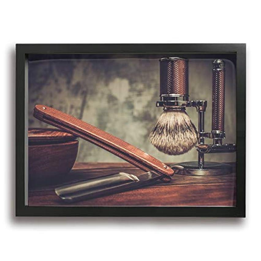 音悪名高い沈黙魅力的な芸術 30x40cm Shaving Accessories On A Luxury Wooden Background キャンバスの壁アート 画像プリント絵画リビングルームの壁の装飾と家の装飾のための現代アートワークハング...