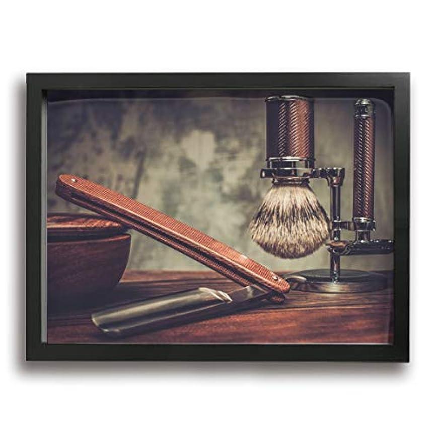 レース試してみる宣伝魅力的な芸術 30x40cm Shaving Accessories On A Luxury Wooden Background キャンバスの壁アート 画像プリント絵画リビングルームの壁の装飾と家の装飾のための現代アートワークハング...