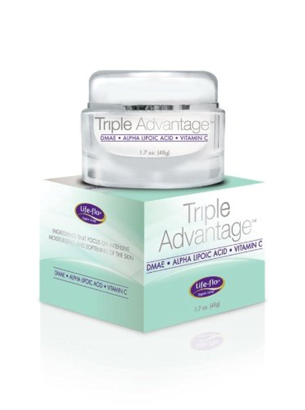 削除する繊維預言者海外直送品 Life-Flo Triple Advantage Cream, 1.7 OZ