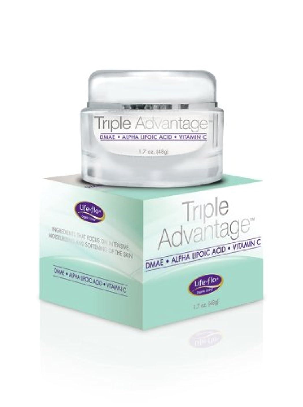 レッスンガロン捨てる海外直送品 Life-Flo Triple Advantage Cream, 1.7 OZ