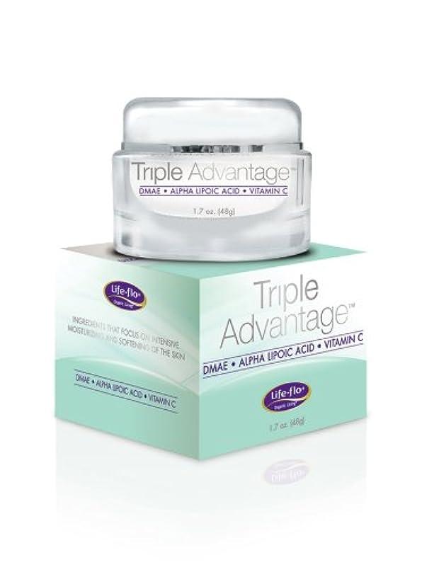 かき混ぜるアスペクト撃退する海外直送品 Life-Flo Triple Advantage Cream, 1.7 OZ
