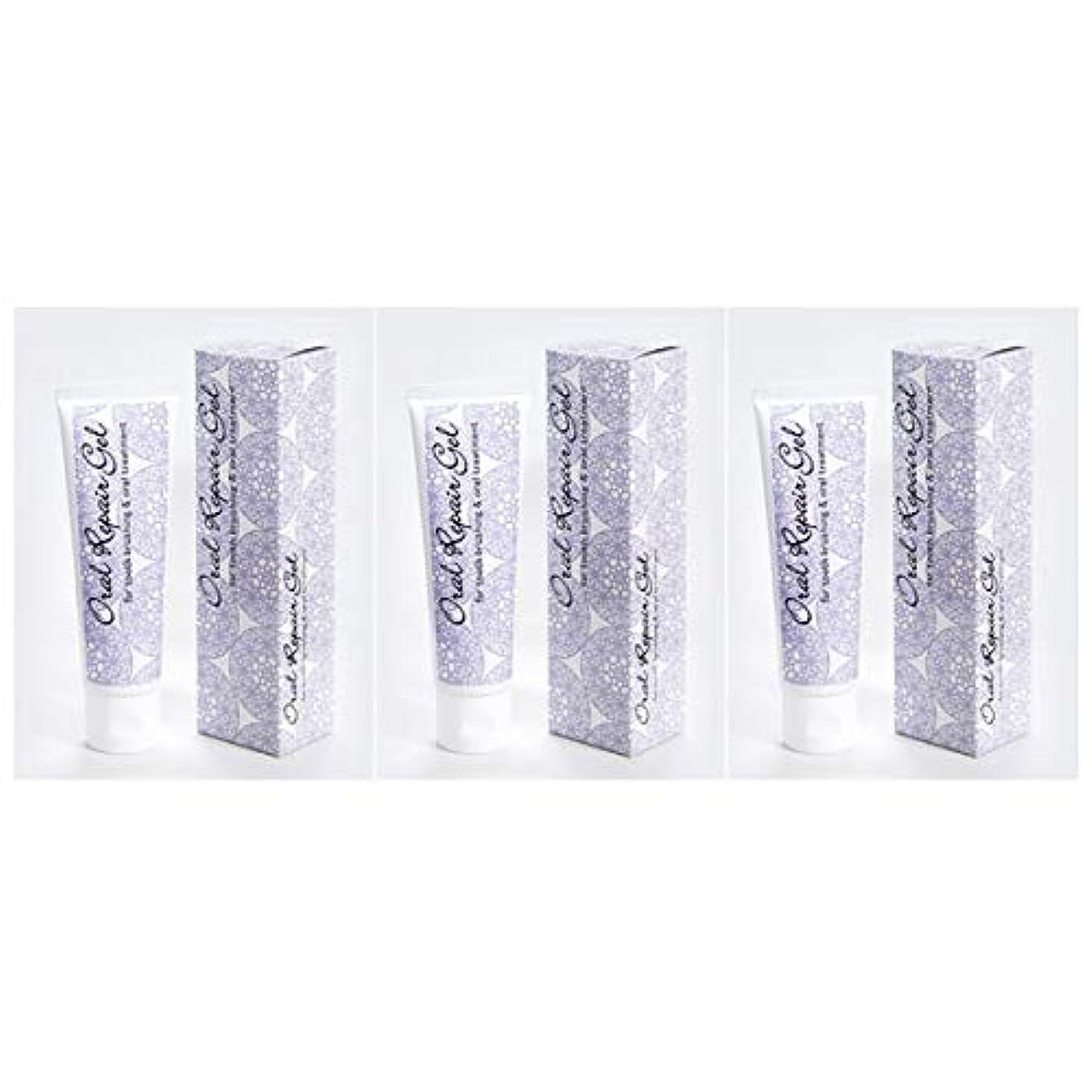 引き出しアーク穏やかなオーラルリペアジェル3個セット(80g×3個) 天然アパタイト+乳酸菌生産物質配合の無添加歯磨き剤