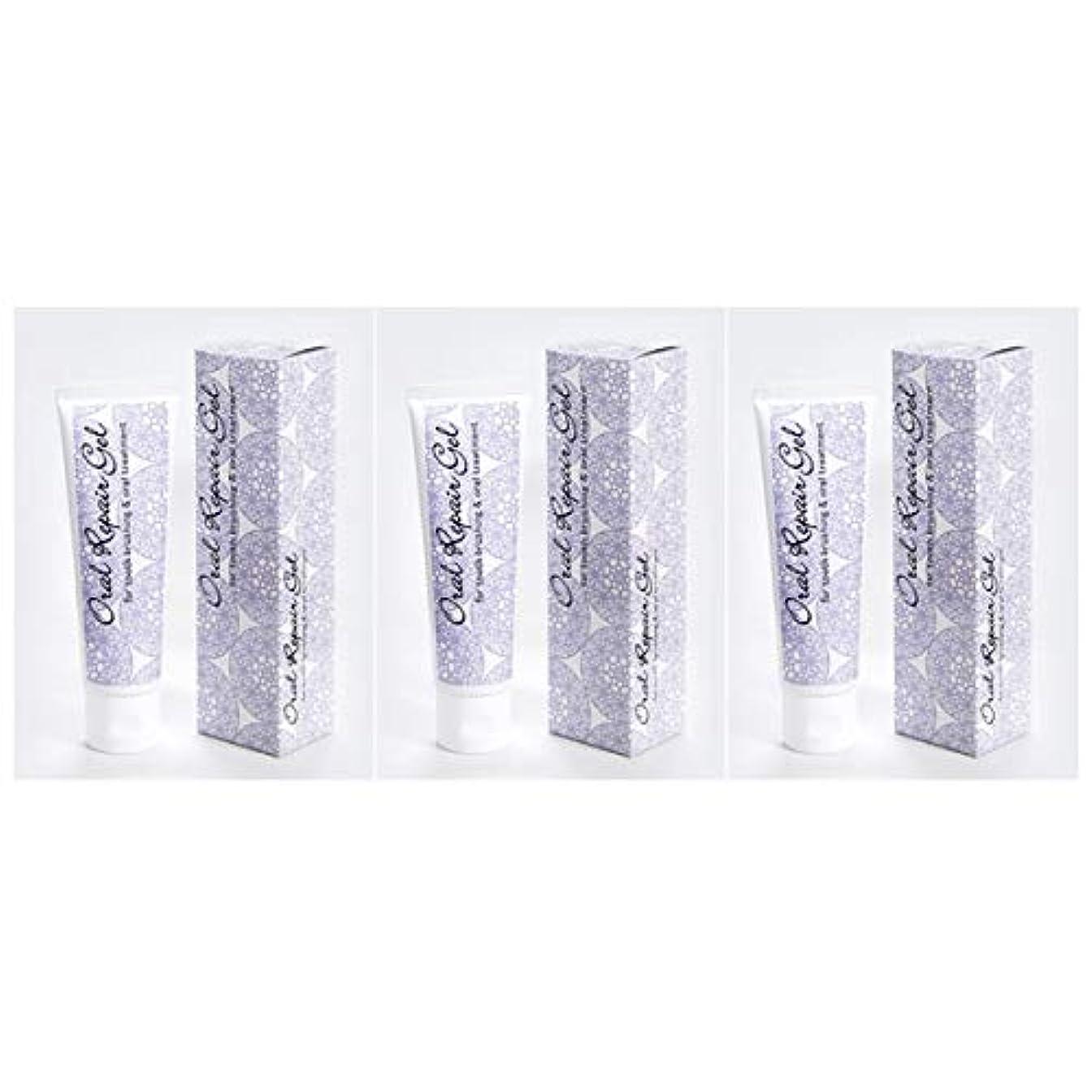 政治家のずんぐりした堂々たるオーラルリペアジェル3個セット(80g×3個) 天然アパタイト+乳酸菌生産物質配合の無添加歯磨き剤