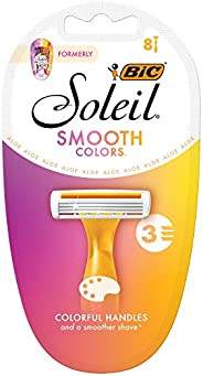 BIC Soleil Colour Collection Disposable Women's Razors - Pack of 8 Sha