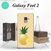 スマホケース カバー フルーツ 黄 [対応機種:Galaxy Feel2 SC-02L ]
