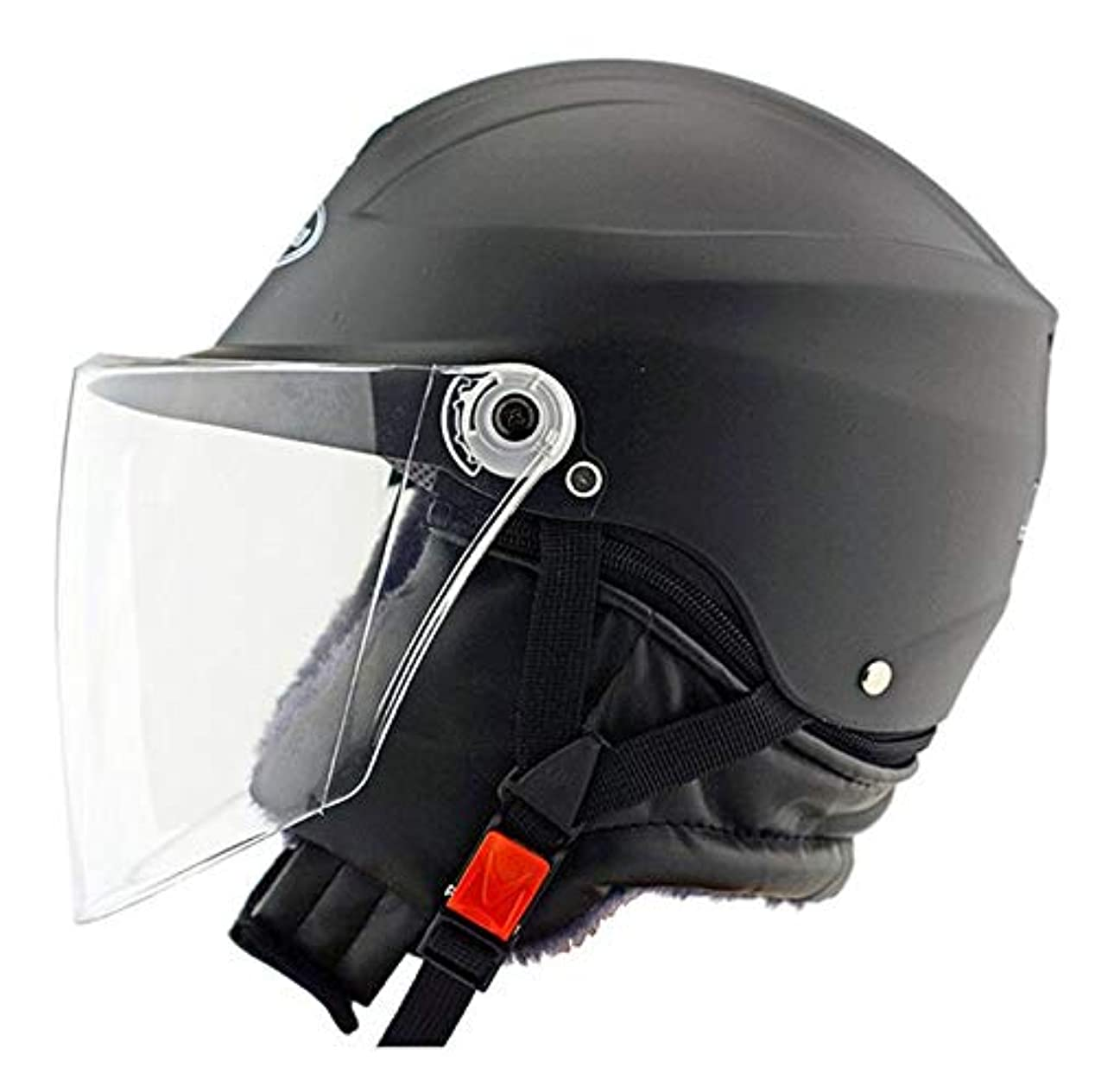 すばらしいです親指使用法バイクオートバイヘルメットサンバイザーは、大人のための男女兼用冬のフリップ,Black