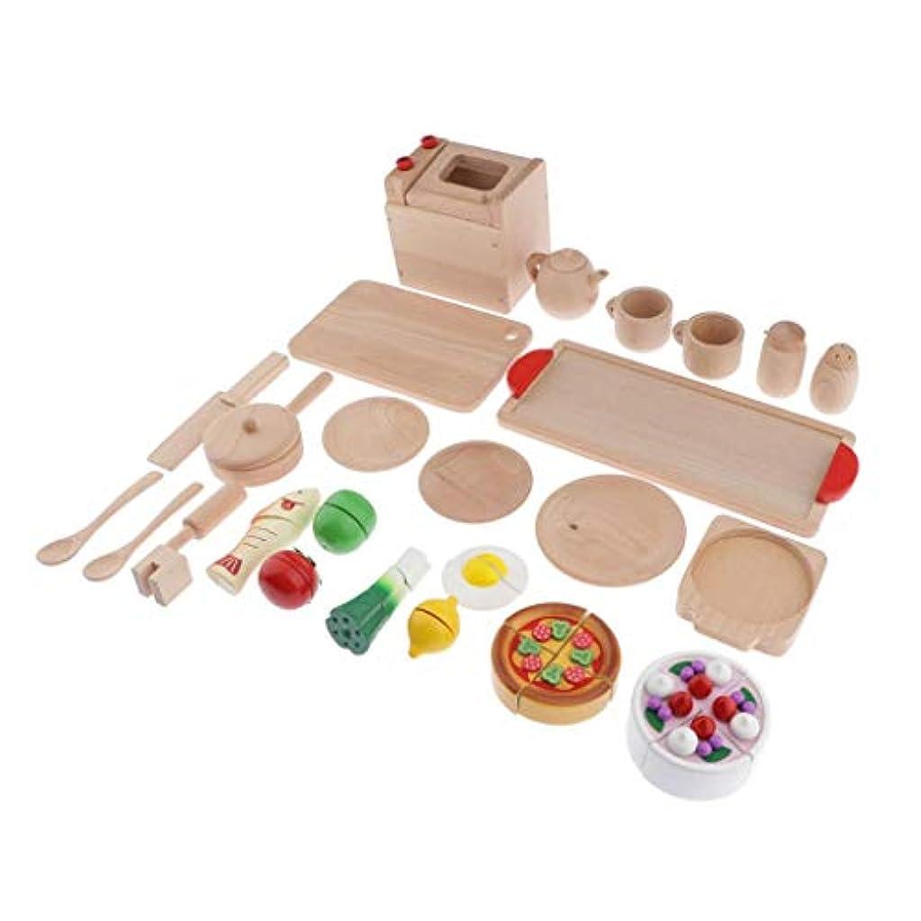 アウトドア広範囲にに負けるPerfeclan 木製 ままごと ケーキカット 知育おもちゃ キッチン用品 創造力、想像力アップ