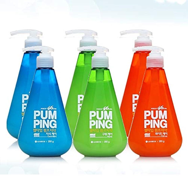 許されるシルク印象的[LG HnB] Perio 46cm pumped toothpaste / ペリオ46cmポンピング歯磨き粉 285gx6個(海外直送品)