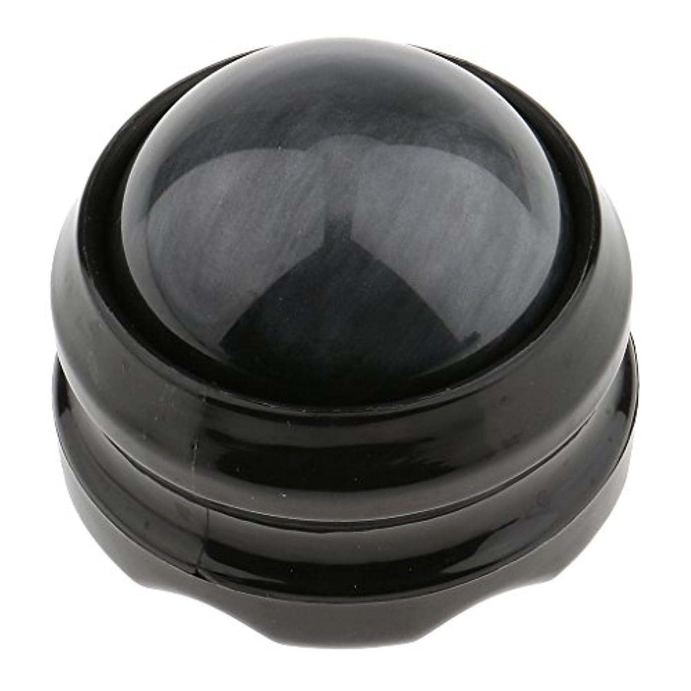 気づく音声学資産マッサージ ローラーボール ボディ バック ネック フット セルフマッサージ ツール 自宅 オフィス 旅行 グレーブラック