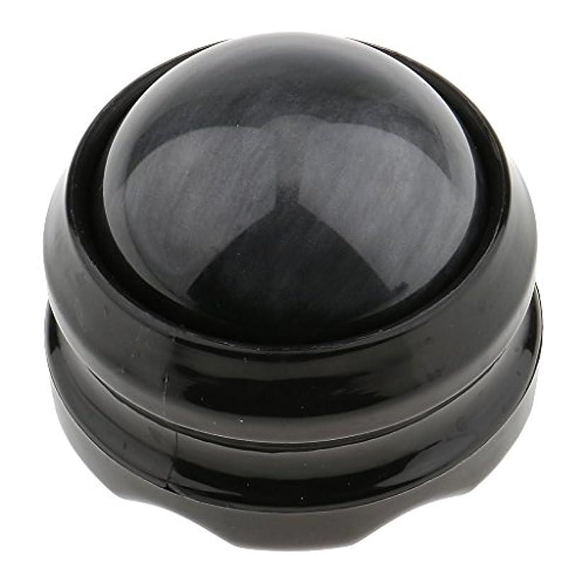 Kesoto マッサージ ローラーボール ボディ バック ネック フット セルフマッサージ ツール 自宅 オフィス 旅行 全4色 - グレーブラック