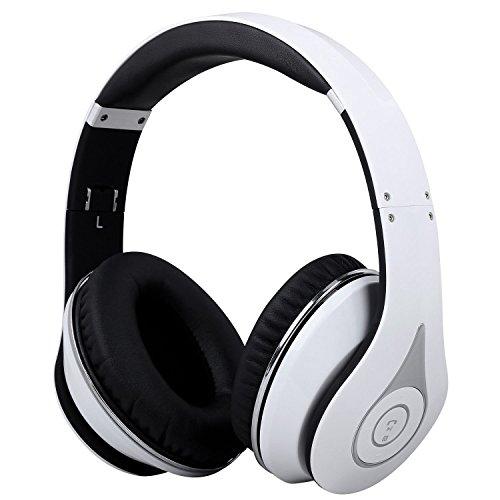 August Bluetooth 4.1 ワイヤレスヘッドホン マイク付き 折り畳み式 EP640 ホワイト