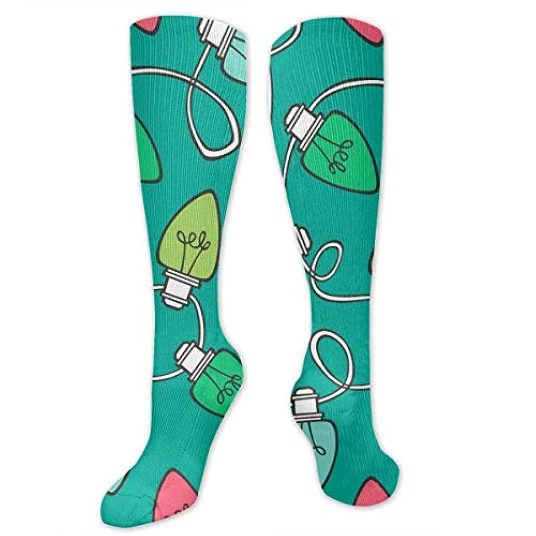 立証するプラスヨーロッパ靴下,ストッキング,野生のジョーカー,実際,秋の本質,冬必須,サマーウェア&RBXAA Christmas Holiday Lights Bulbs Socks Women's Winter Cotton Long Tube...