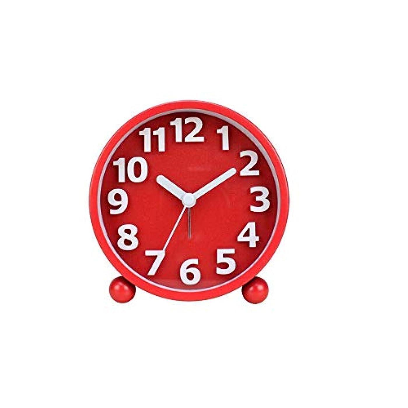 気配りのあるグリーストーナメントKaiyitong001 目覚まし時計、シンプルでモダンなデジタル目覚まし時計、学生クリエイティブベッドサイド時計、研究パーソナリティメタル置時計、赤 (Color : Red)