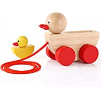 BabeRock Pulled Duck Croc Toddler Wooden Pull Duck Toy