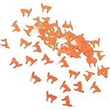 KESOTO 約30g 紙吹雪 ハロウィン テーブル 招待状 ギフトバッグ DIY 2タイプ選べ - オレンジ猫