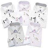 (メンズ バツ) MEN'S BA-TSU ジャパンブランド 5枚セット ワイシャツセット ボタンダウン ホリゾンタル デザインスリム細身 デザインワイシャツ yシャツ 長袖 ビジネス 形態安定 白 メンズ