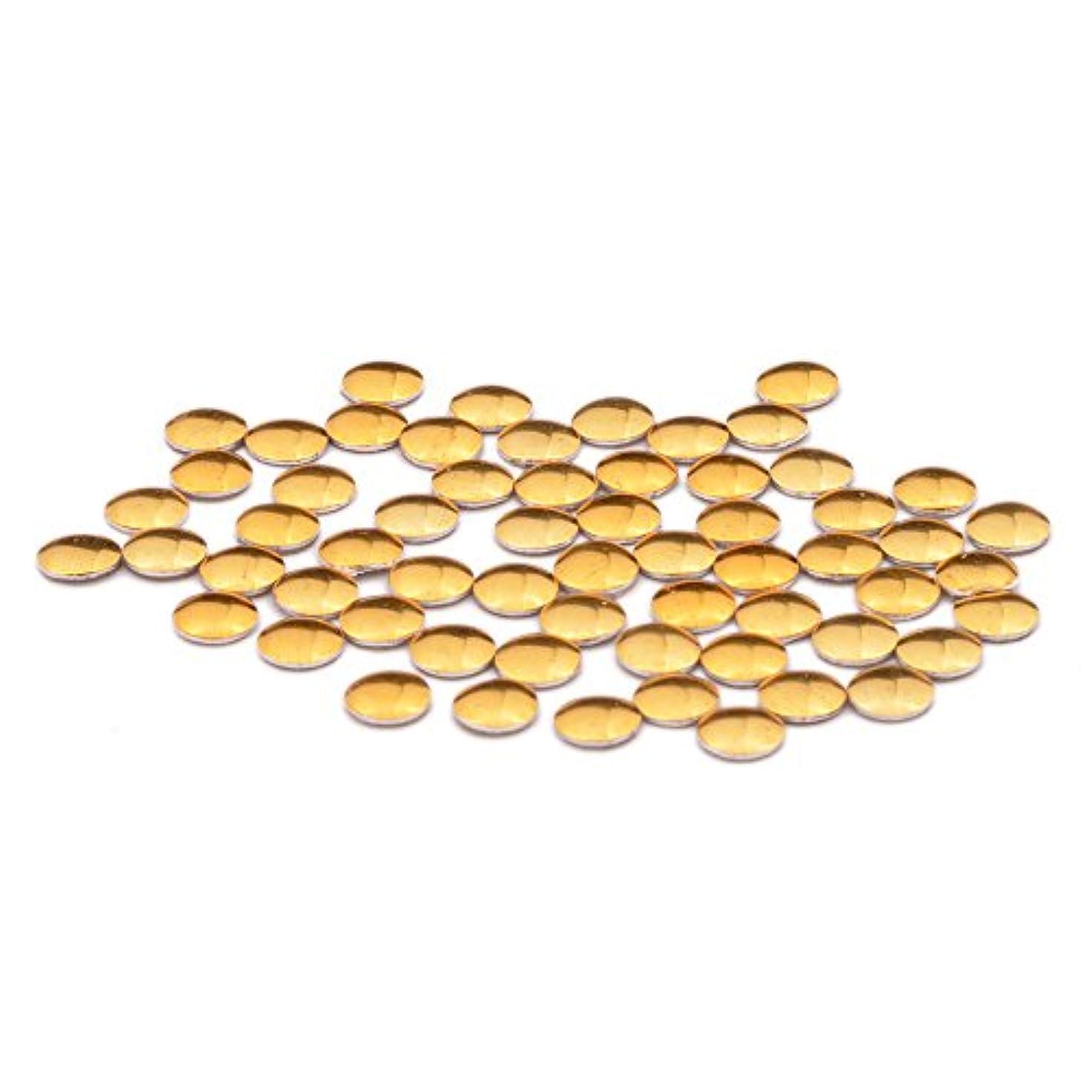 傾向クッション建築ラウンド メタルスタッズ 丸型(0.8mm/1mm/1.2mm/1.5mm/2mm/2.5mm/3mm)約50粒入り (1mm, ゴールド)