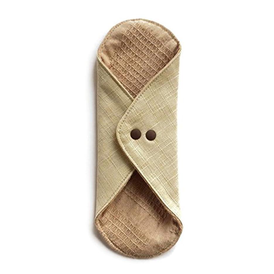 バンカーのれん治療華布のオーガニックコットンのあたため布 Lサイズ (約18×約20.5×約0.5cm) 彩り(百合)