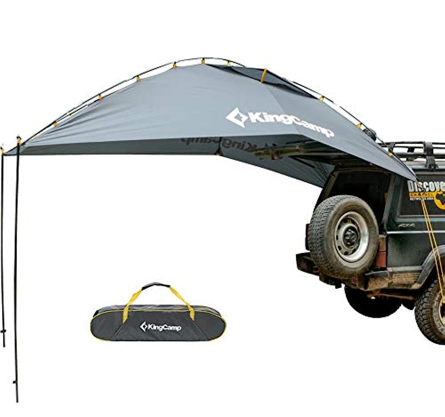 ラテン依存爆風KingCamp タープ テント 車用 日よけテント 様々な車に対応 カーサイドタープ 単体使用可能 キャンプ テント 簡単設営 収納袋付き KT3086