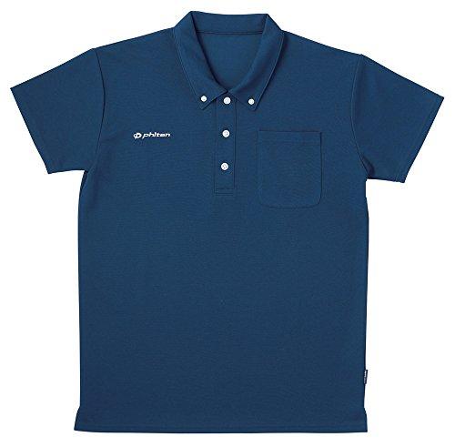 フットマーク フットマーク×ファイテン 介護ウェア ボタンダウンシャツ ネイビー S [6273]