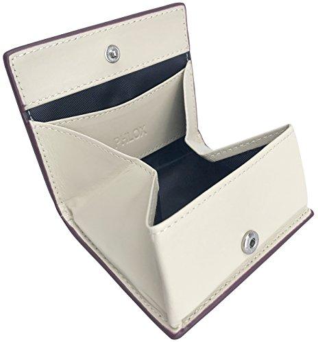 [フロックス] 財布 小銭入れ ボタン式 ボックス型 本革 メンズ ワインレッド