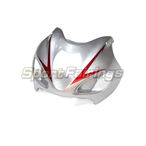 Sportfairings 完全なセット 外装パーツセット 適合 Suzuki GSX-R 1300 GSXR1300 隼 1997-98-99-00-01-02-03-04-05-06-07 年 灰色と銀 フルカウルセット