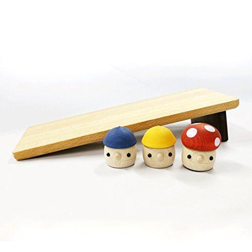 おもちゃのこまーむ どんぐりの板(大)セット(どんぐりころころ2、どんぐりきのこ1、どんぐりの坂大1)【木製玩具】/日本製