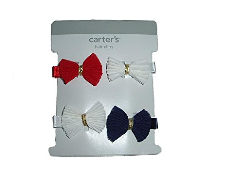 Carter 's Baby Girlレッドホワイトブルーコレクション4ヘアクリップ