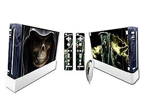 Nintendo Wii Skin Design Foils Faceplate Set - Grim Reaper Design