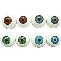 Fenteer ハロウィーン グラスティックアイ  ドールアイ  ラウンド  ドールメイキング ハンドメイド人形修理に 8個セット 人形眼 目玉