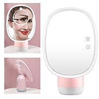 空気加湿器化粧鏡 2色多機能デスクトップled 5倍拡大鏡化粧ランプライトledミラー用ホーム卓上浴室シャワー旅行(02)