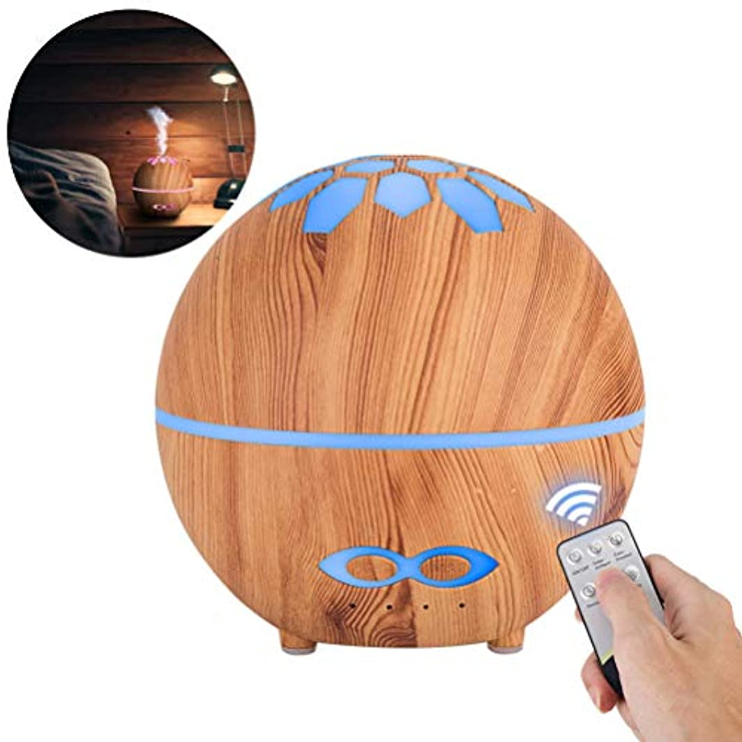 シロクマ岩民主党SUPVOX 400ML Essential Oil Diffuser Remote Control Humidifier Electric Aroma Diffuser (Light Wood Grain with JP Plug)