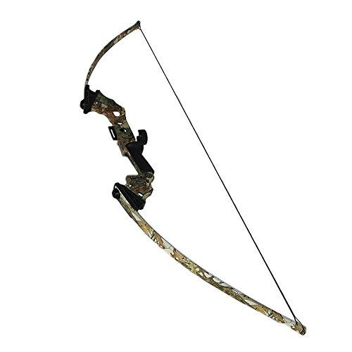 ATROPOS-251 アーチェリー狩猟弓ロングボウ、張力45lbs、 カムフラージュ
